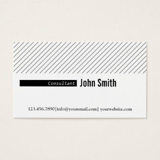 Minimal Diagonal Lines Consultant Business Card