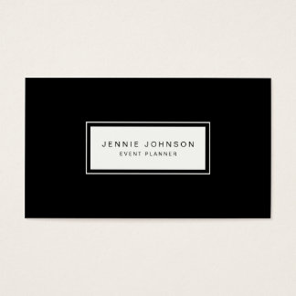 Minimal Elegant Modern Black Business Card