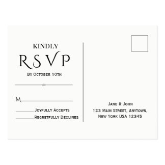 Minimal & Elegant RSVP Post Card