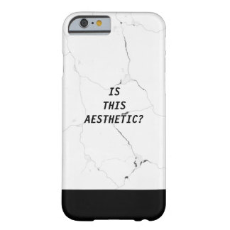Minimal IS THIS AESTHETIC? Marble Text Tumblr Barely There iPhone 6 Case