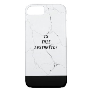 Minimal IS THIS AESTHETIC? Marble Text Tumblr iPhone 8/7 Case