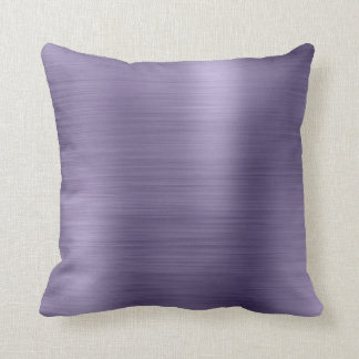 Minimal Metallic Purple Plum Silver Metallic Cushion