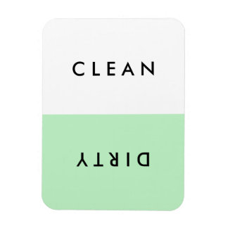 Minimal Mint Dishwasher Clean or Dirty Magnet