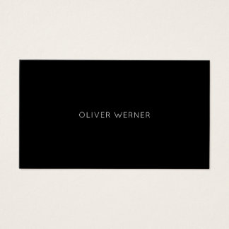 minimal of the minimalist elegant black business card