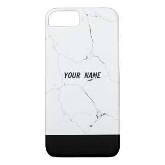 Minimal Personalized Name Marble Text iPhone 8/7 Case