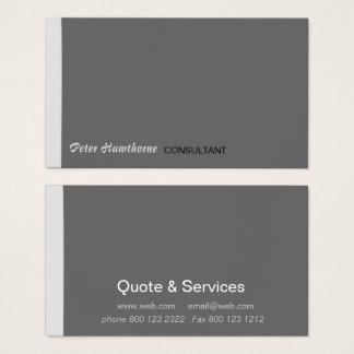 Minimal Trendy Modern Tiny Stripe Professional Business Card