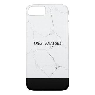 Minimal TRÈS FATIGUÉ Marble Text iPhone 8/7 Case