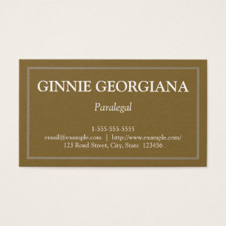 Minimalist and Plain Paralegal Business Card
