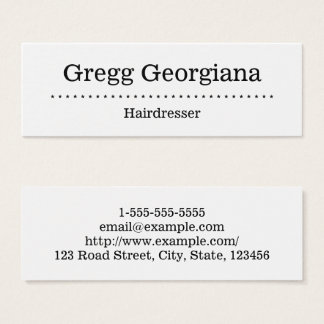 Minimalist and Simple Hairdresser Business Card