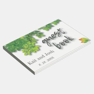Minimalist Autumn Oak Wedding Keepsake Guest Book