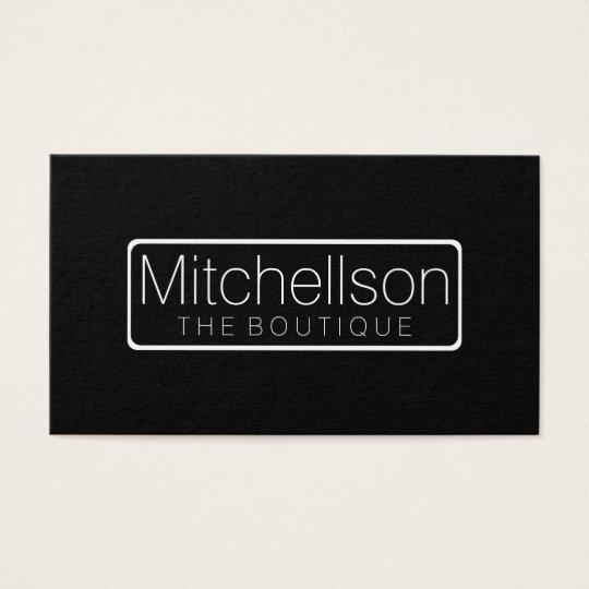 Minimalist Black Label Business Card