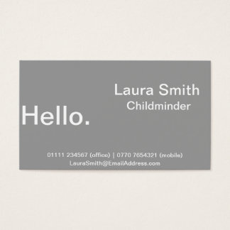 Minimalist Business Card - Grey