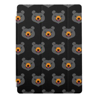 Minimalist Cute Black Bear Cartoon iPad Pro Cover