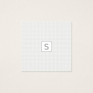Minimalist Dotted  Pattern Modern Simple MONOGRAM Square Business Card