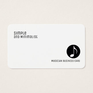 minimalist elegant music business card