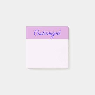 Minimalist, Elegant, Plum Background & Blue Name Post-it Notes
