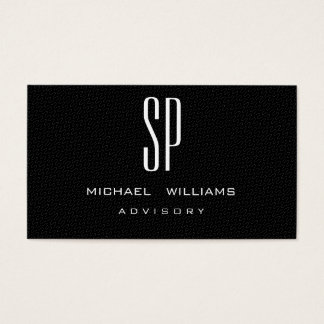 MINIMALIST ELEGANT PROFESSIONAL BLACK ELEGANT BUSINESS CARD