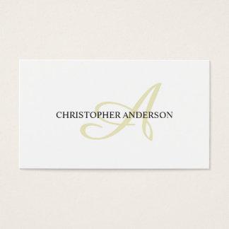 Minimalist Elegant White Consultant Monogram