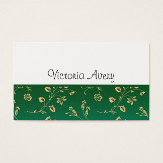 Minimalist Floral Design Modern Personalized Business Card