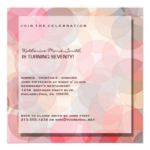 Minimalist Modern 70TH Birthday Party Invitation