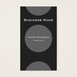 Minimalist modern circle monogram business card