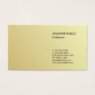 Minimalist Modern Professional Elegant Gold Look Business Card