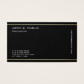 Minimalist Modern Professional Gold Color Stripes Business Card