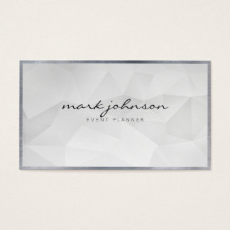Minimalist Modern Professional White Polygon Cards