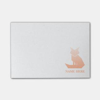 Minimalist Peach Gradient Fox Post-it Notes