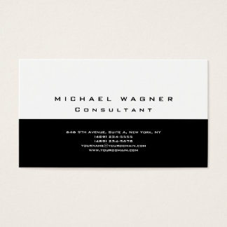 Minimalist Plain Simple Black White Trendy Modern Business Card