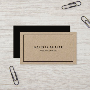 Minimalist business cards zazzle nz minimalist professional elegant kraft business card reheart Images