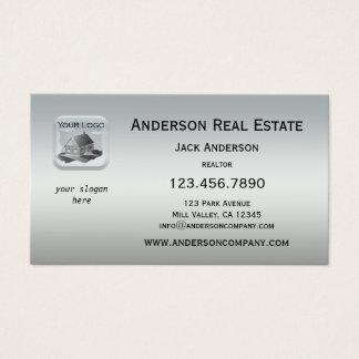 Minimalist Silver Logo Professional Business Card