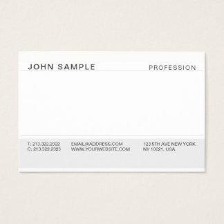 Minimalist Simple Modern Professional Elegant Grey Business Card