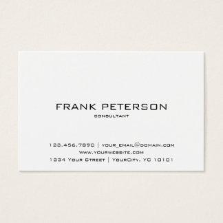 Minimalist Textured Inverse Black White Consultant Business Card