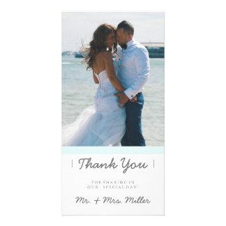 Minimalist Thank You | WEDDINGS Personalised Photo Card