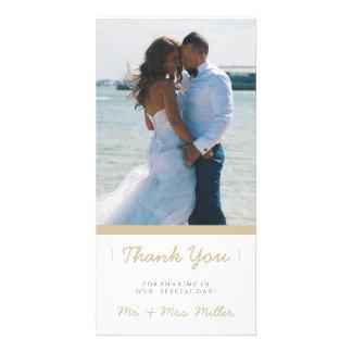 Minimalist Thank You | WEDDINGS Personalized Photo Card