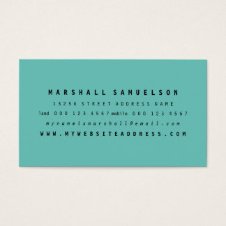 Minimalist Two Color Professional Business Cards