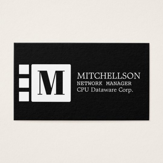 Minimalist White Cubicle Business Card