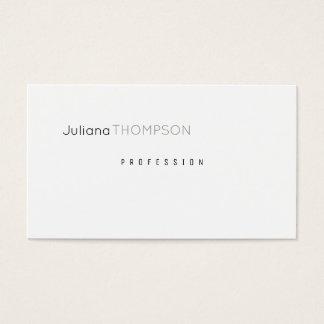 minimalist white plain & clear prof business card