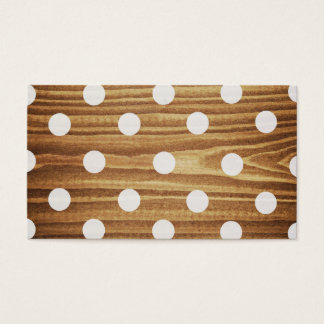 Minimalist wood polka dots.