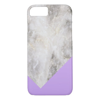 Minimalistic Marble w\ Color Block Light Purple iPhone 7 Case