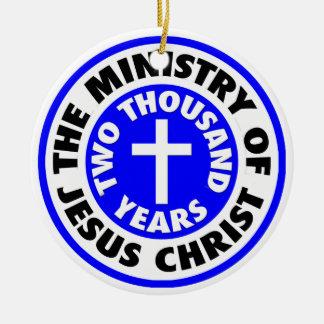 Ministry of Jesus Christ Round Ceramic Decoration