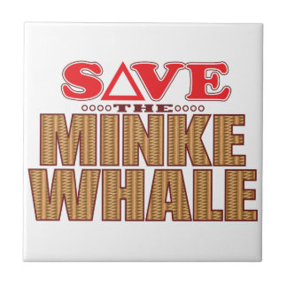 Minke Whale Save Small Square Tile