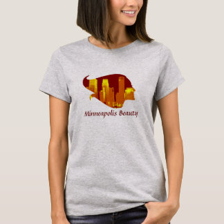 Minneapolis Beauty in Red, Orange, and Yellow T-Shirt