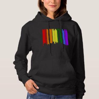 Minneapolis Minnesota Gay Pride Rainbow Skyline Hoodie