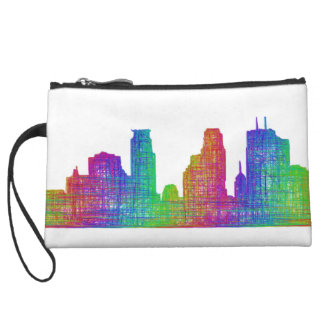 Minneapolis skyline wristlet