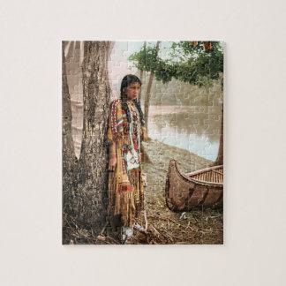 Minnehaha 1897 Native American Hiawatha Vintage Jigsaw Puzzle