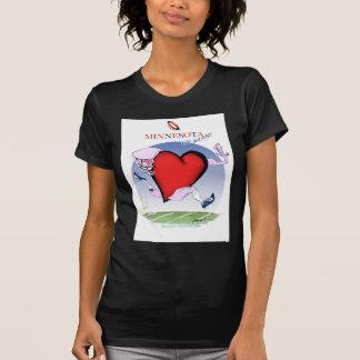 minnesota head heart, tony fernandes T-Shirt