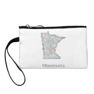Minnesota map coin purse