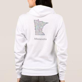 Minnesota map hoodie